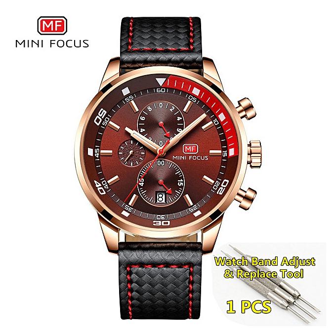 d04e0df4 reloj hombre Quartz Fashion Mens Watches Top Brand Luxury Leather Men's  Wrist Watch Chronograph Male watch 2019(rose gold)