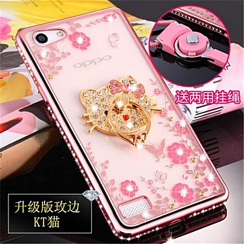 newest 41c4c d983f Luxury Rhinestone Phone Case Cover Holder Stand For Oppo A33 A33m A33f  Protective Ultra-thin Silicone Soft Case(Multicolor-1)