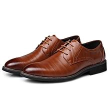 Fashion Men Large Size Cow Leather Formals Business Shoes-EU