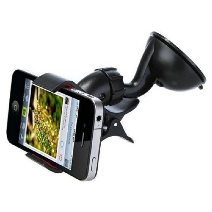 Zmurud Universal Windshield 360° Rotating Car Mount Bracket Holder Stand For Mobile Phones_Black