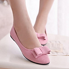 Women Ballet Shoes Work Flats Bow Tie Slip Shoes Boat Comfortable Shoes (EU Sizing)