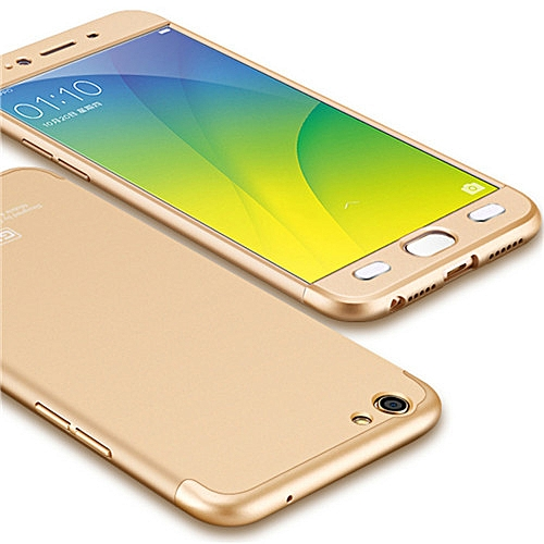 online store d5842 28511 For Oppo F1s Cases And Covers 360 Full Body Hard Plastic Matte Protection  Case For Oppo F1s A59 A1601 Back Cover Fundas (Gold)