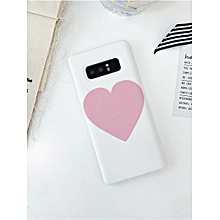 Samsung Series Phone Cover Simple Love Heart Pattern Durable Case____SAMSUNG S9____white