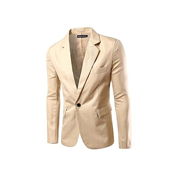 932f38fd5b1 Khaki NEW Mens Fashion Brand Blazer British's Style Casual Slim Fit Suit  Jacket Male Blazers Men