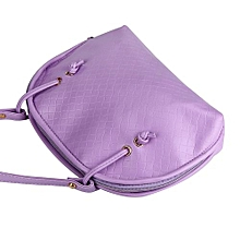 Fohting Women Hobo Shoulder Bag Faux Leather Satchel Crossbody Tote Handbag PP -Purple
