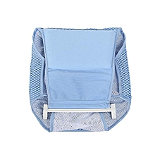 Newborn Infant Bathtub Net Shower Support Safe Bathing Sling Baby Toddle Bath Seat Blue