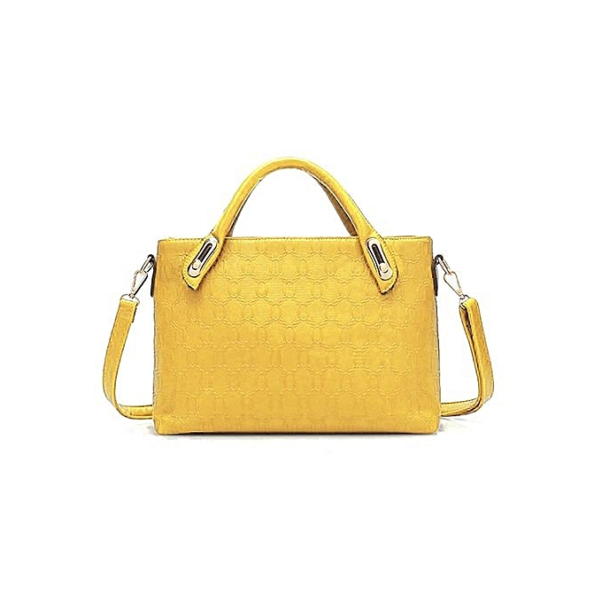 fea26b1ce90 Composite Bag Women Handbags PU Leather Messenger Bags Design HotStyle  Ladies Tote Bag Handbag+Shoulder Bag+Purse+Black - Intl (Color:Yellow)