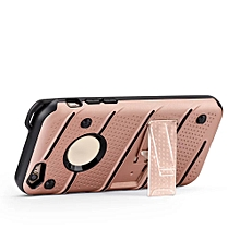 Hot PC+Soft Silicone Material Shockproof Back Cover Case For iPhone 6 4.7Inch RG-Rose Gold