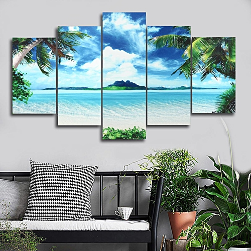 Buy Generic 5PCS Canvas Print Seascape Beach Printing Modern Home ...