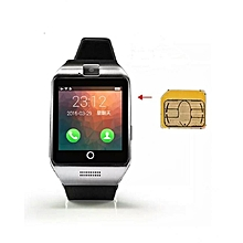 Q18 Apro SmartWatch Phone Curved Touch Screen NFC Bluetooth SIM Card Enabled - Black/silver