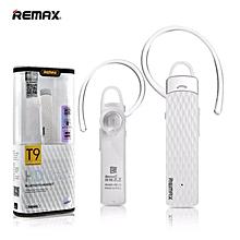 Remax RB-T9 HD Voice Bluetooth Headset Earphone Handsfree ( White ) JY-M