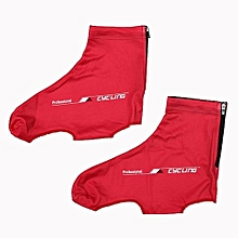 Outdoor Sports Cycling Shoe Covers (Red XL)