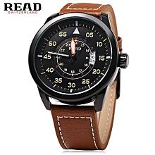 Male Luminous Pointer Sport Wristwatch - Golden