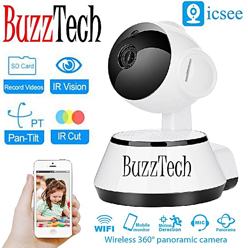 ICSEE Puppy Design IP CAM 720P HD Wifi Wireless IP Camera Security Wireless  CCTV Night Vision Baby Monitor Camera (White) XINJIN