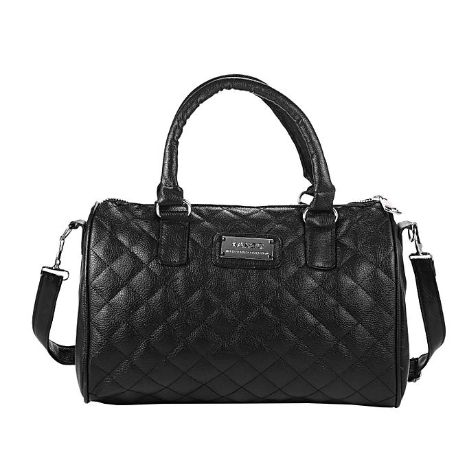 Women Quilted Handbag Square Zipper Pockets Shoulder Bag Tote Bags Array