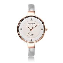REBIRTH Quartz watch fashion bracelet watch fashion female form 546m  (WHITE)