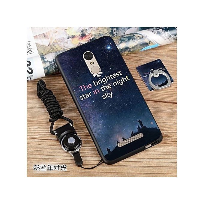 reputable site 6c1ed 2db96 Soft Silicone TPU Painted Phone Case For Xiaomi Redmi Note 3 / Redmi Note 3  Pro / 5.5 Inch(with A Ring And A Rope)