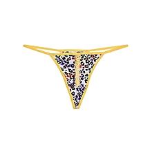 Yellow Mixed Pattern Thong