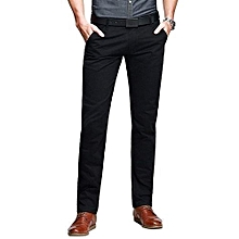 Chinos Trouser Pant - Black - Straight Slim Fit