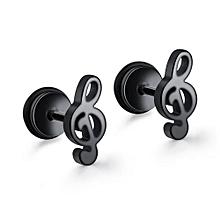Men's Hip Hop Earrings Boys Punk Music character Studs Jewelery