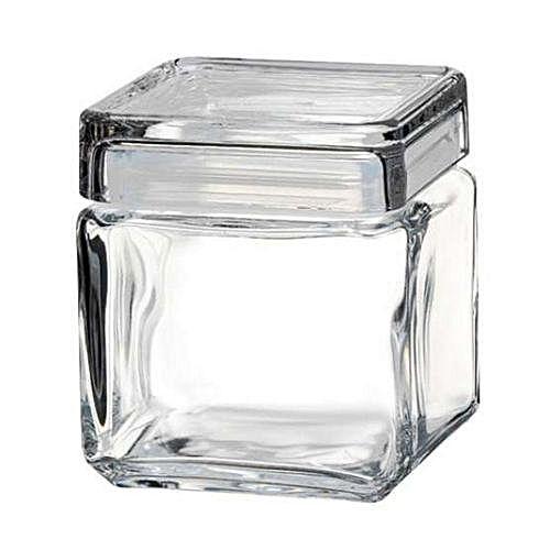 Landmark Square Jar 750ml Glass Storage Canister