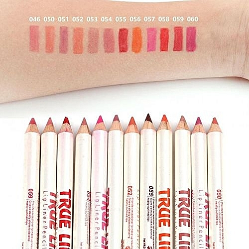 12 Colors Waterproof Matte Long-lasting Lip Line Lipstick Pen Set