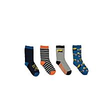 Multicoloured Grey Socks Set