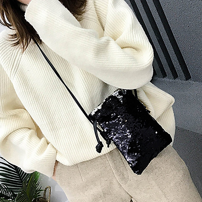 fce96ce329a3 shioakp Women Small Bag Wild Messenger Bag Hook Bag Shoulder Bag Sequin Bag