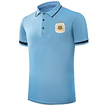2018 Sports Soccer Polo Shirt Summer New World Cup Argentina Team Blue T-shirts