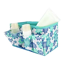 Makeup Cosmetic Storage Bag Bright Organiser Foldable Stationary Container Blue