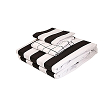 4Pc – Fitted Bed Sheet Set - 5 x 6  – Black & White