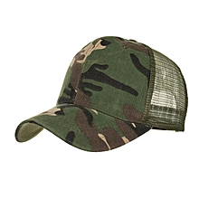 TB Adult Unisex Camouflage Printed Mesh Baseball Cap Fashionable Hip Hop Hat green camouflage