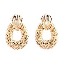 Fashion Women Big Geometric Pendant Ladies Exaggerated Long Dangle Earrings gold