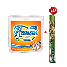 Kitchen Towel Twin Pack & Hanan Foil  + FREE Hanan Cling Film