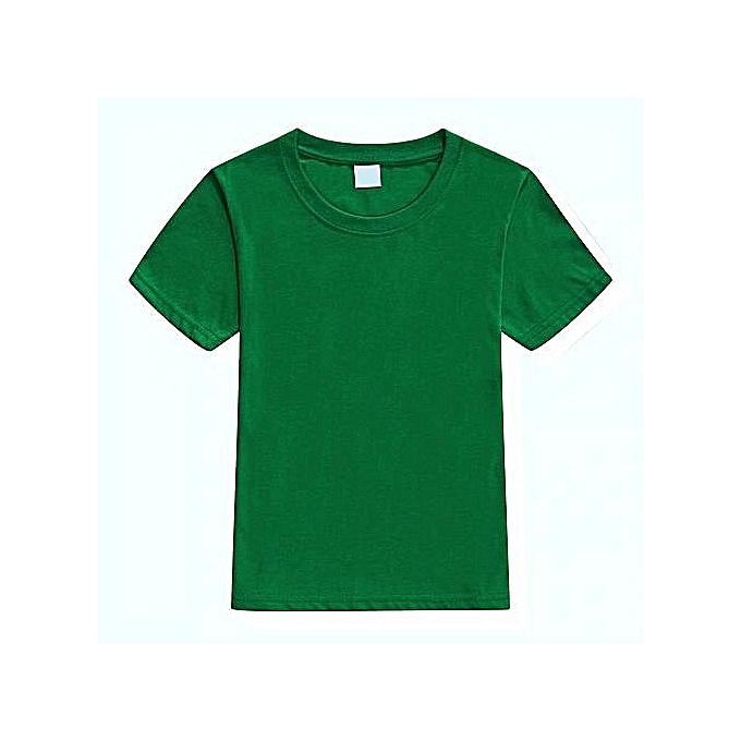 e6793d34f Generic Round Neck Plain T-Shirt - Green @ Best Price   Jumia Kenya