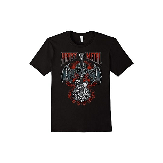 7244837a Creative Personality Of Men's T-shirt Heavy Metal Rock And Roll T-Shirt Mens