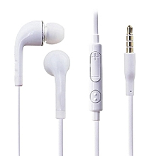In-Ear Style Earphone with Microphone for Phone - White