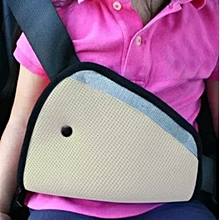 Car Safety Seat Belt Padding Adjuster For Children Kids Baby Car Protection Soft Pad Mat Safety Car Seat Belt Strap Cover Beige