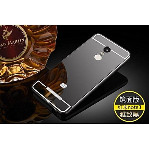 super cute 59ef2 9dd30 Metal Mirror Border Back Case Cover For Xiaomi Redmi Note 3 (Color:c0)