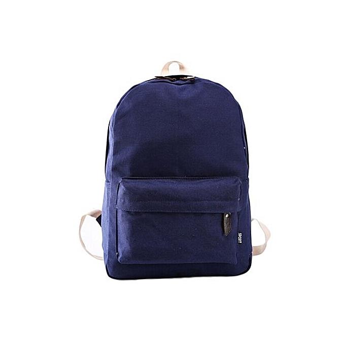 2019 am besten bester Preis besser Fohting Women Canvas School Bag Girl Backpack Travel Rucksack Shoulder Bag  DB -Dark Blue