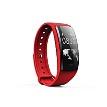 """QS90 - 0.96"""" Smart Wristband Touch Andriod/IOS 70mah Bracelet Heart Rate Monitor Pedometer - Red"""