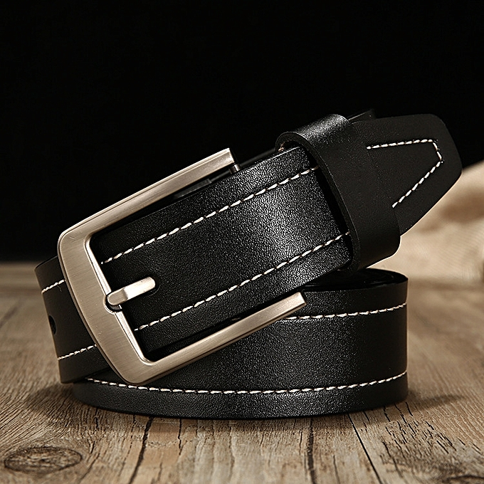 Generic Men S Leather Belt Gold World Casual Pin Buckle Leather
