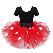 Polka dot ballet dress Red