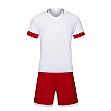 Customized World Cup Football Soccer Team Training Children And Men Sports Jersey-White