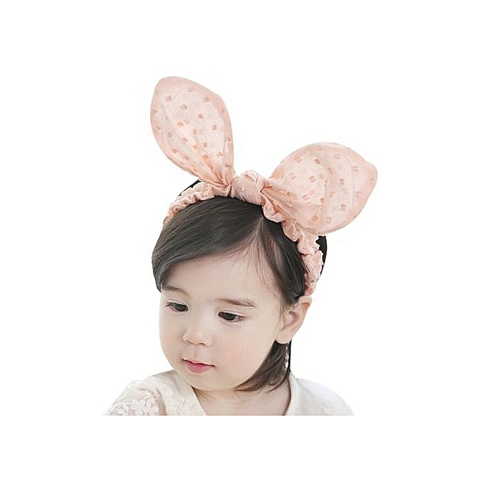 d4aca6ac133 Braveayong Baby Girls Lovely Dot Print Bowknot Headbands Elastic Hairbands  PK -Pink