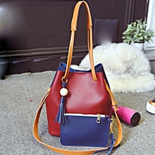 71f748918a6 bluerdream-Lady Handbag Shoulder Bag Tote Purse Fashion Leather Women  Letter Packets RD-Red