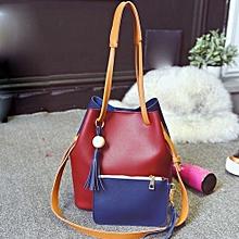 bluerdream-Lady Handbag Shoulder Bag Tote Purse Fashion Leather Women Letter Packets RD-Red