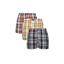 Victan Boxers Short(3-in-one package)-  checked colors vary per availability