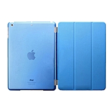 Tablet Smart Cover + Slim Transparent Back Case for Apple iPad Mini Retina (Blue) HSL-G