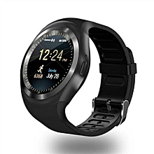 """Y1 Smart Watch 1.54"""" Touch Screen Fitness Activity Tracker Sleep Monitor Pedometer Calories Track Support SIM Card Solt-Black"""